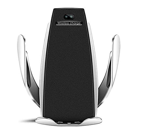 Cracksin Supporto per cellulare wireless 2 in 1 automatico, gravità 10 W/7,5 W, ricarica rapida, tensione automatica, caricatore per auto