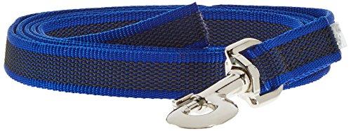 Julius-K9, 216GM-B-2 Color & Gray Gumierte Leine Blau-Grau 20mm*2 m ohne Schlaufe, max. für 50 kg Hunde