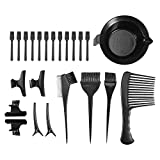 SODIAL 23Pcs/Set Hair Dyeing Tool Kit Hair Color Mixing Bowl Hair Dyeing Comb Brushes Clips Spatulas Hair Coloring Tools