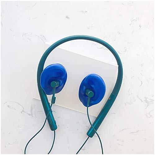 FHUILI Siliconen Oor Model met Ondersteuning Stand - Kunstmatige Simulatie Menselijk Oor voor Acupunctuur Praktijk, Oortelefoon Bluetooth Headset Display Props (1 Paar)