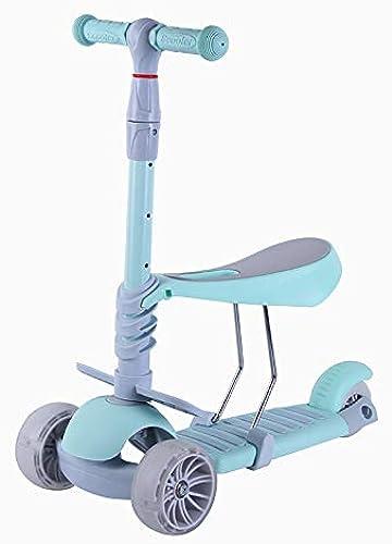 Mishuai Trois-en-Un Flash Scooter Multi-Fonction Trougeteur bébé Mode tri-Roue réglable Scooter ( Couleur   Bleu )