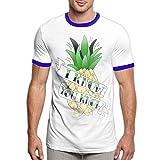 Darren K Lemay Ananas Psych Tee-Shirts T-Shirt pour Hommes à la Mode T-Shirt Confortable à Manches Courtes