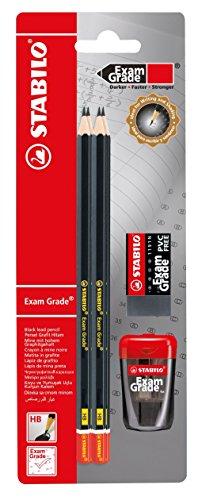 Bleistift-Set - STABILO Exam Grade - Härtegrad HB - inklusive Spitzer und Radiergummi
