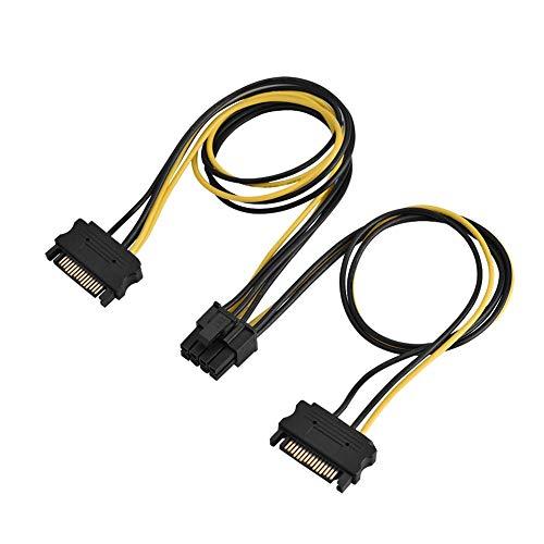 SATA 15-pins connector naar 2 SATA-8-pins verlengkabelverdelers SATA naar PCI-E voedingsadapterkabel Compatibel met alle WINDOWS-besturingssystemen (0,4 M dubbel)