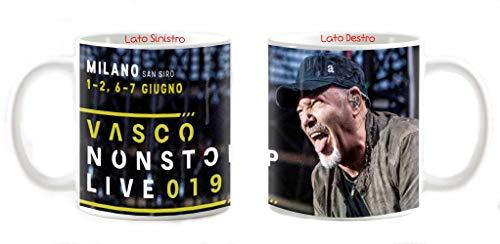 My Cust Tazza Mug Personalizzabile Vasco Rossi Non Stop Live Tour 2019 Concerto Ticket Biglietto Palco