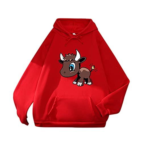 Ncenglings Women's Long Sleeve Hooded Jumpers Kangaroo Pocket Sweatshirts Caftan Hoodie,Ladies Casual Kawaii Graphic Drawstring Autumn scoop Collar Fleece Pullover Pleated Blanket Cardigan Roll Hem