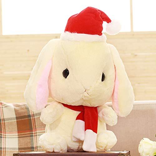 lkhybbgjk El Juguete de Peluche Conejito Hooligan Conejo Blanco Conejo muñeca muñeca muñeca Almohada para niños le da a la niña un Regalo de cumpleaños