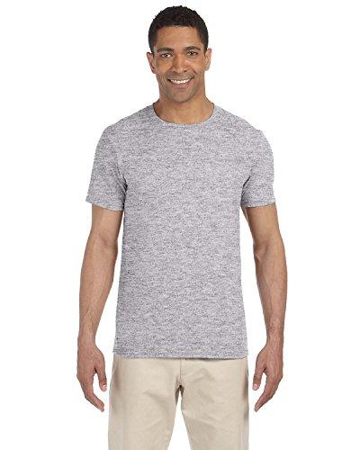 Gildan einfache T-Shirts, verfügbar in allen Farben und Größen, für Herren, 5 Stück Gr. L, 5 x Grey