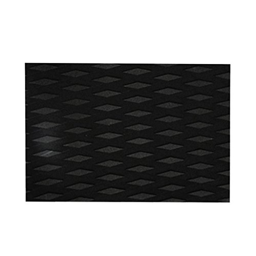 CUTICATE Almohadilla De Tracción De Surf para Tablas De Surf Y Skimboards - Adhesivo Y Antideslizante EVA Tail Pad Deck Grip Accesorios Negro