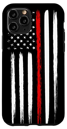 iPhone 11 Pro Firefighter Phone Case Thin Red Line American Flag Fireman Case