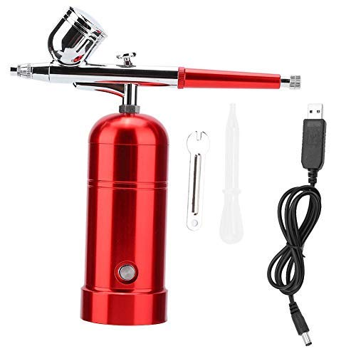 TMISHION Pulverizador de oxígeno de Agua Atomizador de oxígeno USB portátil Aerógrafo Hidratante Cuidado de la Piel Pistola de Spray para la Piel Rejuvenecimiento Antiarrugas