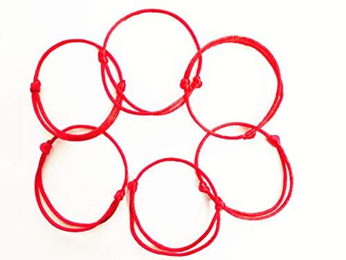 Lot - 10 Kabbalah Red String Bracelets Evil Eye Jewelry Kabala Charm F