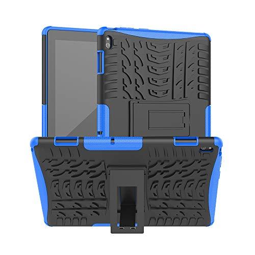 XITODA Funda para Lenovo Tab E10,TPU Silicone + PC Back Cover con Kickstand Protección Carcasa para Lenovo Tab E10 TB-X104F/TB-X104L 10,1 Pulgadas Tablet,Azul Oscuro