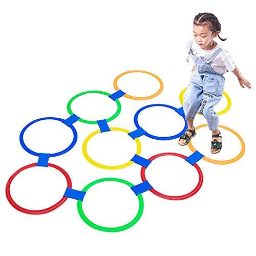 Juguetes educativos Hua Juguete Creativo De Rayuela para Exteriores para Niños, Equipo De Entrenamiento Físico De Salto Multifuncional, para Niños Y Niñas, 3 Tamaños (Size : Small)