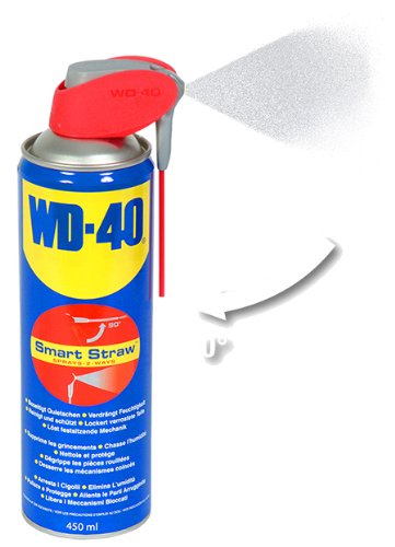 WD-40 Multifunktionsspray, Kontakt-, Teflon-Schmiermittel, Fahrrad-, Bike-, Auto-, Ketten-, Motorrad-Spray, 450-Ml Sprühdose, Smart-Straw, Blau - 2