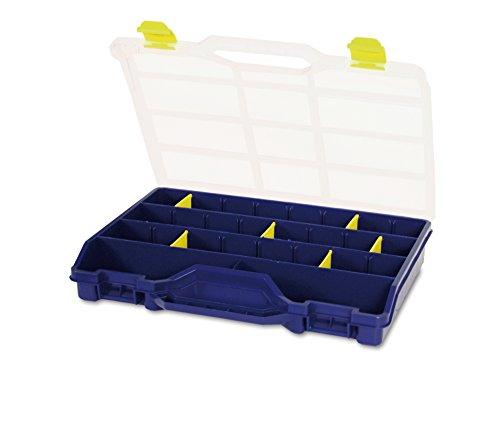 Tayg 46-26 Estuche organizador con separadores móviles, 2000 W, 240 V, Azul, Transparente, Amarillo, 378 x 290 x 61 mm