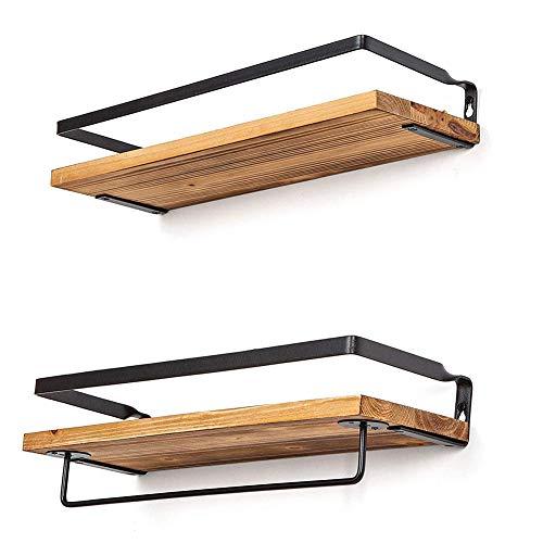Houten Vormige Zwevende Planken Hangende Boekenplank Wandopslag Displaydecoratie Wandmontage Fotoplank Foto's Awards, Kunnen Overal Worden Geplaatst
