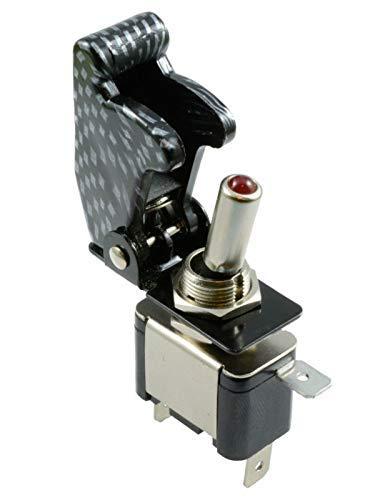 Interruptor basculante automático de 2 piezas de encendido y apagado SPST interruptor basculante LED iluminado para coche de competición deportivo de carreras