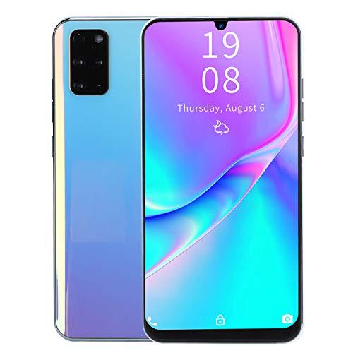 Smartphones desbloqueados S20 + 3G para Android 10.0, Pantalla de caída de Agua HD de 7.2 Pulgadas, Soporte para teléfonos Inteligentes con identificación Facial de 12GB + 512GB(1)