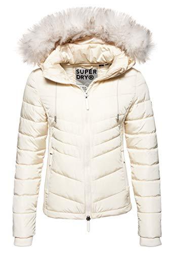 Superdry Damen Luxe Fuji Jacke Auster 34