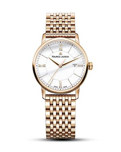 Maurice Lacroix Damen Analog Quarz Uhr mit Edelstahl Armband EL1094-PVP06-111-1
