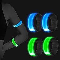 【Ultra Hohe Sichtbarkeit】LED-Leuchtstreifen geben bei Aktivitäten draußen wirklich deutlich mehr Sicherheit. Mit hoch reflektierendem Material und hoch sichtbarem Licht kann die Armbinde auch die potentielle Gefahr verhindern und die Sicherheit garan...