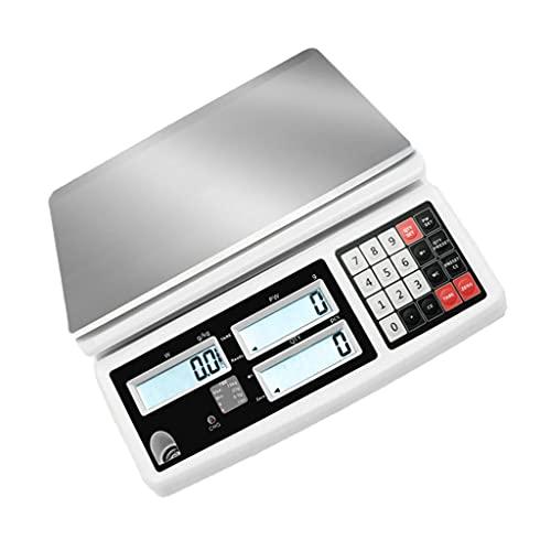 WZ Escala Conteo Digital Escala Recuento Monedas Piezas Precisión Escala Gramo Electrónica Báscula Conteo Industrial Laboratorio Balanza Digital (Size : 6kg/0.1g)