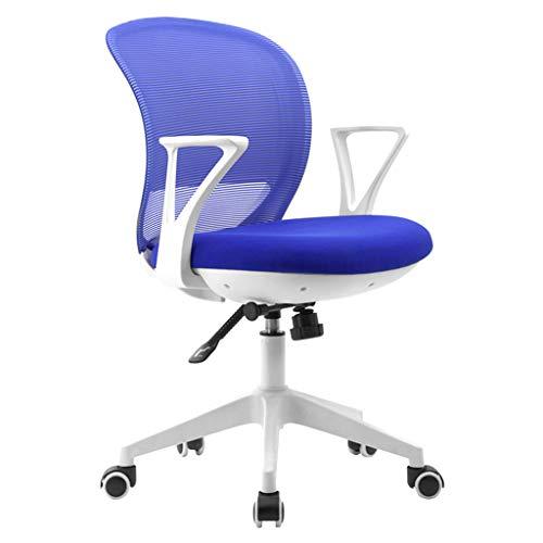 ZZZR Silla de Oficina Silla de Escritorio con Respaldo Medio Giratorio con Soporte Lumbar, con reposabrazos Regulable en Altura para Personas de Diferentes Alturas