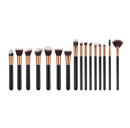Scpink Make-up-Pinsel-Set, 16 Stück, Schwarz, Professionelles Make-up-Pinsel-Set für Damen und...