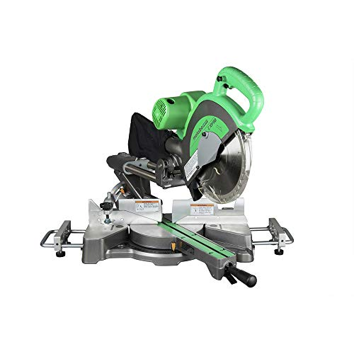 Metabo HPT 10-Inch Sliding Compound Miter Saw, Double-Bevel, Electronic Speed Control, 12 Amp Motor, Electric Brake, 5-Year Warranty (C10FSBS)