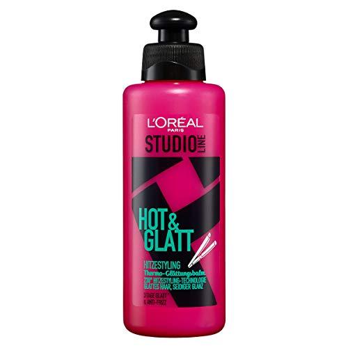L'Oréal Paris Studio Line Hitzeschutz-Balm, Haarcreme für glatte Haare, Anti-Frizz, Hot & Glatt Thermo-Glättungs-Balm, 1 x 200 ml