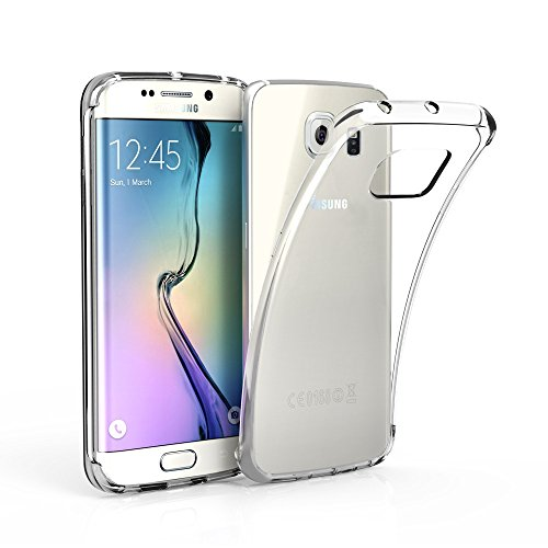 EasyAcc Hülle Case für Samsung Galaxy S6 Edge, Dünn Crystal Clear Transparent Weich Handyhülle Cover Soft Premium-TPU Durchsichtige Schutzhülle Kompatibel mit Samsung Galaxy S6 Edge