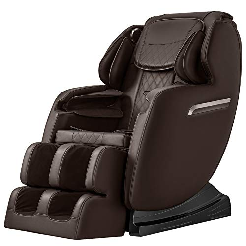 OOTORI SL Massage Chair, Full Body Air Massage 3-ROW-Footroller, Roller Massage from Neck to hip, Yoga Stretching Function w/Bluetooth Heating (Brown)