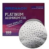 Hookah Foil Pre Punched Hookah Aluminum foil & Heavy Duty Pre-Poked Hookah Foil & Hooka Shisha Foils 5.5 Inches 0.03mm 100pcs (100)