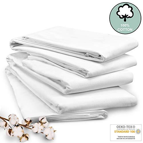 Beautissu Sábana Blanca Nilo 100% algodón 180x290