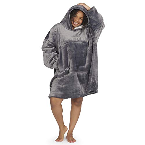 SNUGGY Premium Oversized Hooded Blanket Sweatshirt - Cosy, Thick, Warm, Extra-Soft Hoodie with Handy Pouch Pocket. Mens, Women, Kids, One Size - As Worn By The Celebs