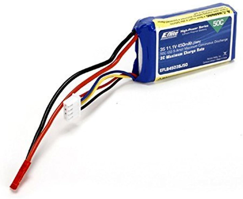EFlite LiPo Battery 11.1V 450mAh 3S 50C 18AWG JST EFLB4503SJ50 by Eflite