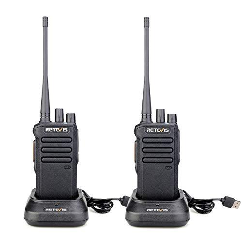 Retevis RT43 Walkie Talkie Digitale 5W 32 Canali DMR Dual Time Slot Radio Amatoriale VOX Compatibile con Motorobo Tier I & II (1 coppia, nero)