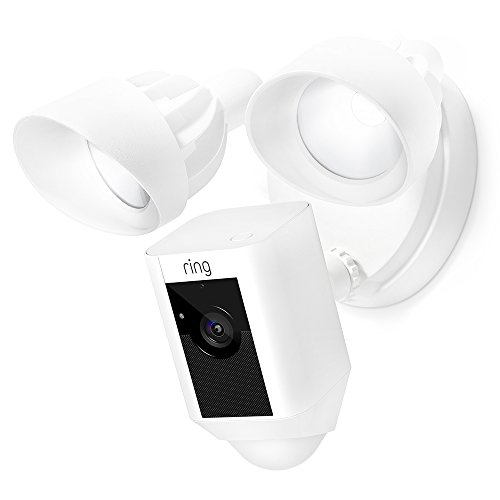 $129. Lowest price ever.  Certified Refurbished Ring Floodlight Camera Motion-Activated HD Security Cam Two-Way Talk and Siren Alarm, White, Works with Alexa - $129.99
