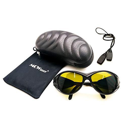 MCWlaser Gafas protectoras de seguridad láser Gafas 190-450 y 800-2000nm Típico para 355nm 405nm 445nm 450nm 808nm 980nm 1064nm 1085nm 1320nm 1342nm 1470nm 1550nm Tipo de absorción EP-5 Estilo 2