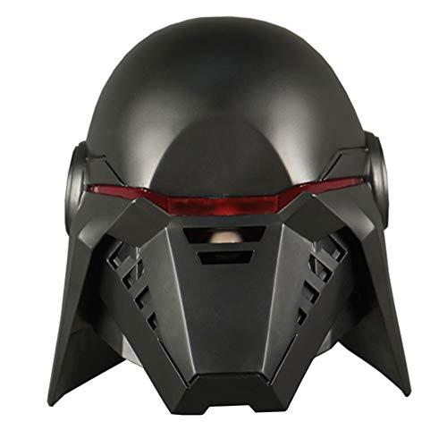 X-COSTUME Stormtrooper Helmet, Phase 2 Clone Trooper Mask Scaled Helmet Modern Blue White for Adult Halloween Cosplay (Black-Resin)