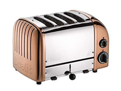 Dualit 47390 Classic New Generation Toaster 4 Scheiben, 18/8 Edelstahl, kupfer