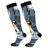 PUXUQU Calcetines largos con diseño de pingüino para hombre y mujer, 1 paquete