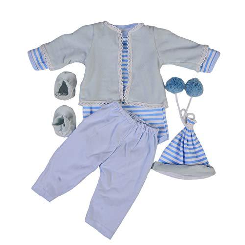 6-teilig Babypuppe Kleidung Strampler, Hosen, Jacke, Hut, Socken Set für 22-23 Zoll Baby Puppen