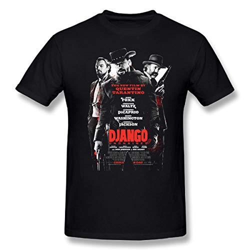 Django Unchaiined Movie T Shirt for Mens Contton tee Black (l)
