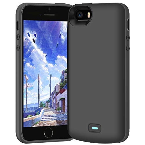 BAHOND Battery Case for iPhone 5 / 5S / SE, 4000mAh Rechargeable Extended Battery Charging Charger Case, Add 2.3X Extra Juice