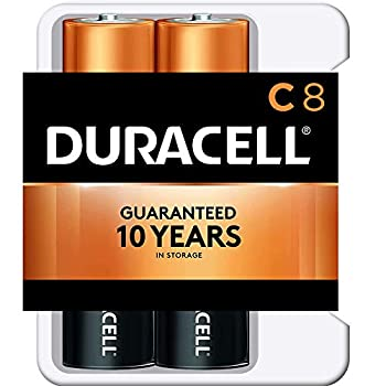 Duracell - CopperTop C Alkaline Batteries with Recloseable Package - Long Lasting All-Purpose C Battery for Household and Business - 8 Count