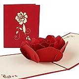 Vegena Rote Rosen Hochzeitskarte...