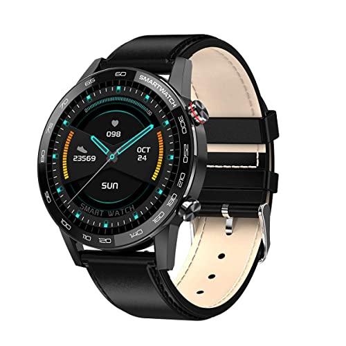 XQPK L16 Reloj Inteligente Hombres ECG PPG Smartwatch IP68 Bluetooth Control de Música Presión Arterial Frecuencia Cardíaca Pulsera de Fitness (C) (F)