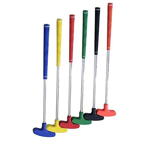 Decoración de muebles Juegos de palos de golf 6 piezas Putter de golf junior de dos vías Palos de golf 23 33 'de longitud Colores surtidos para edades de 3 5 6 8 9 12 13 15 Accesorios de golf (Colo